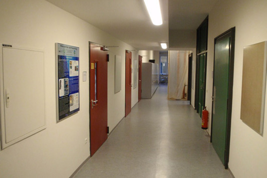 Corridor to the labs